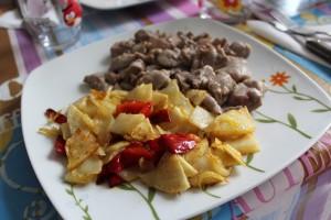 raxo con patatas de la casa
