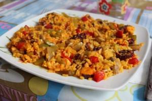 Guiso de arroz con pulpo